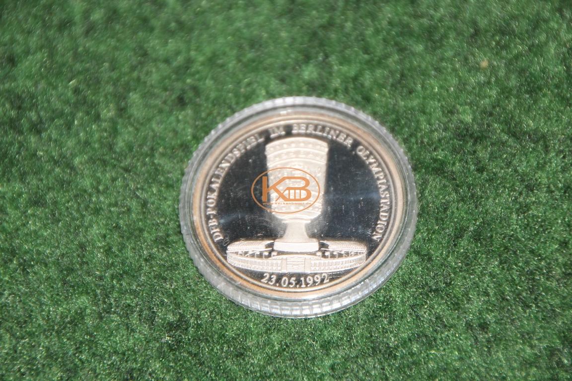 Erinnerungsmünze zum DFB Pokal Sieg von Hannover96 im Jahr 1992 2/2