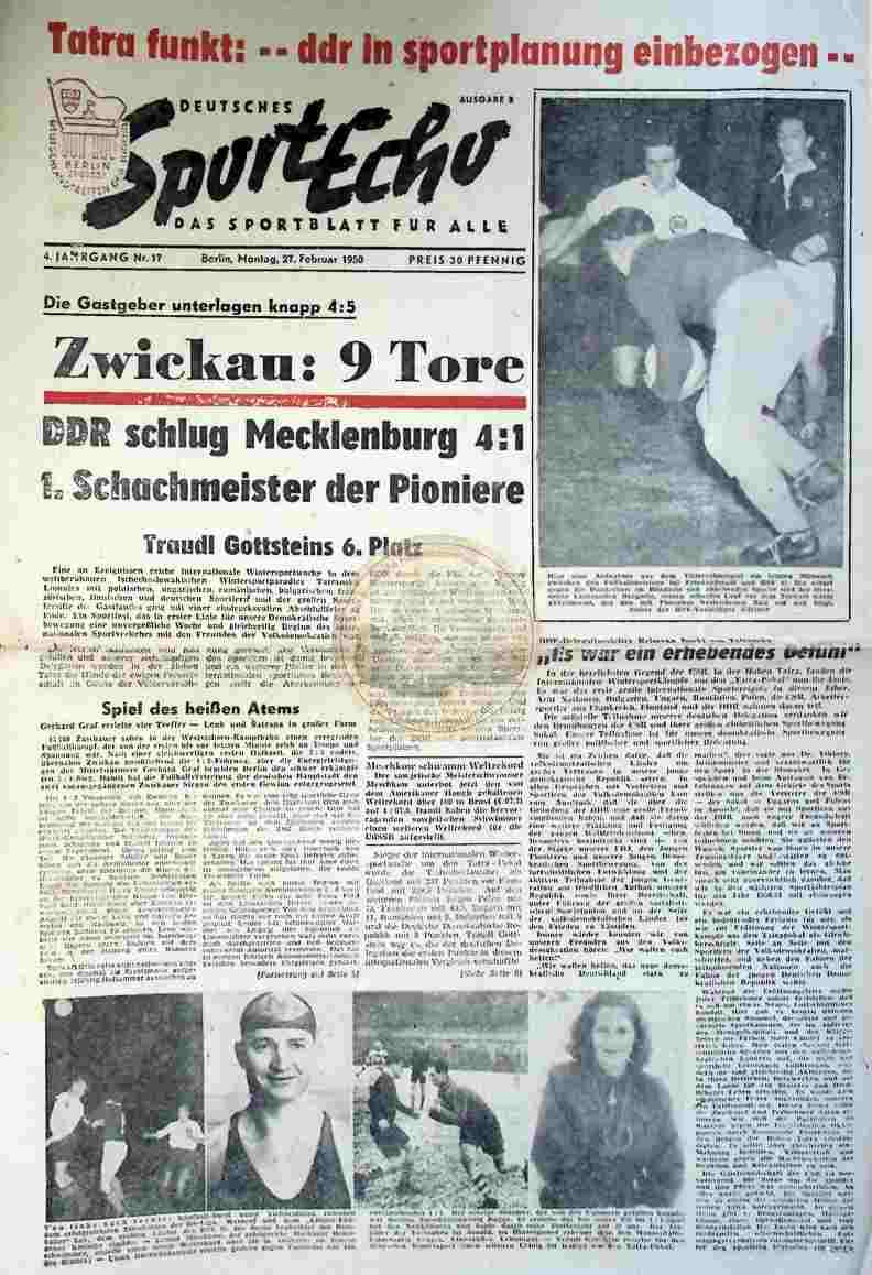1950 Februar 27. Sportecho Nr. 17
