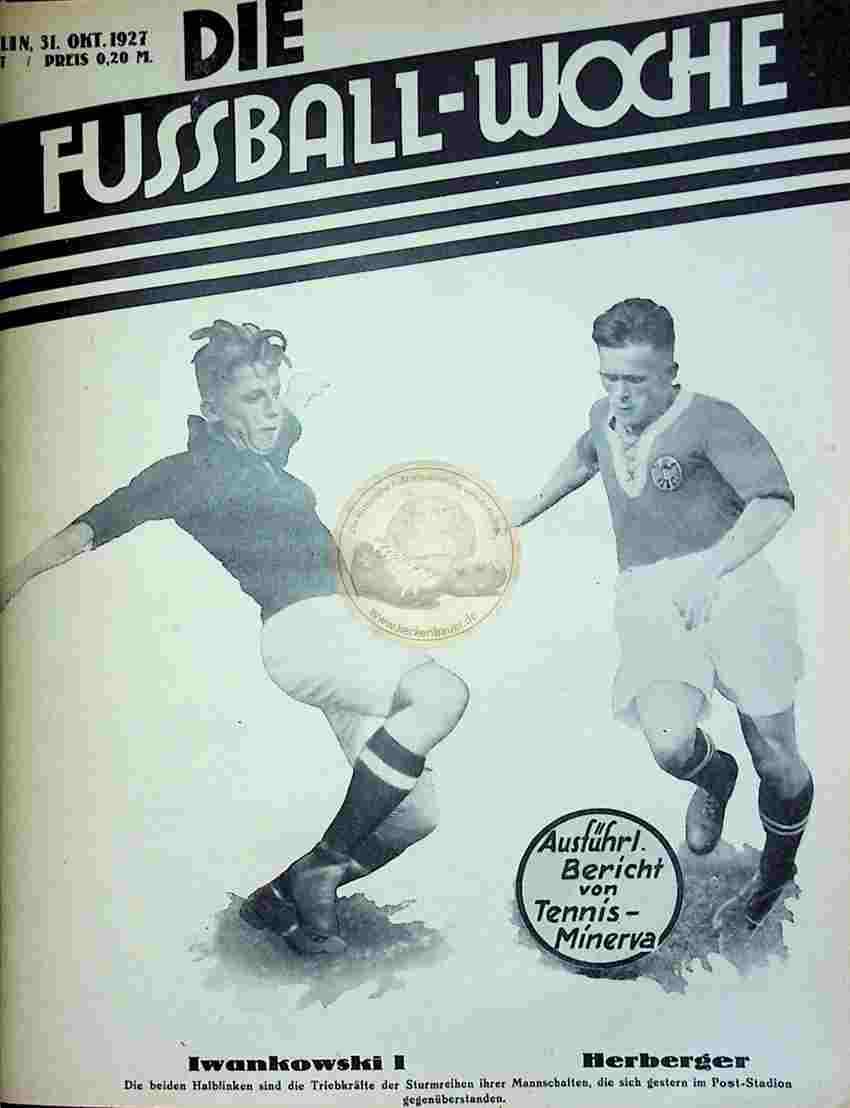 1927 Oktober 31. Fussball-Woche Nr. 87