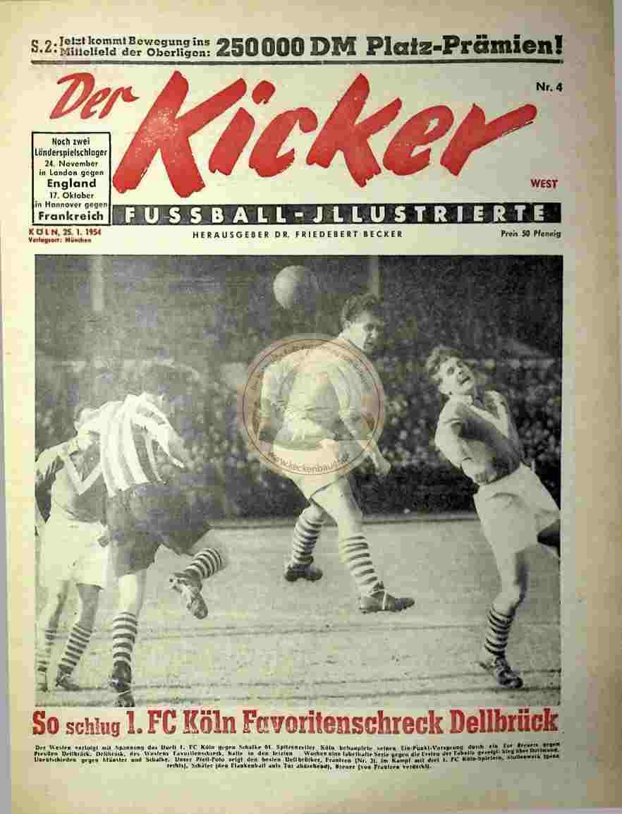 1954 Januar 25. Kicker Nr. 4