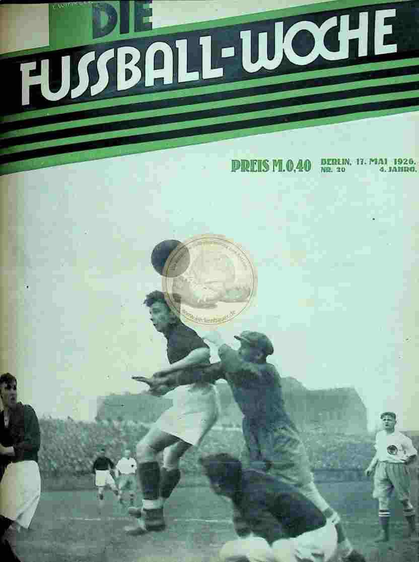 1926 Mai 17. Fussball-Woche Nr. 20