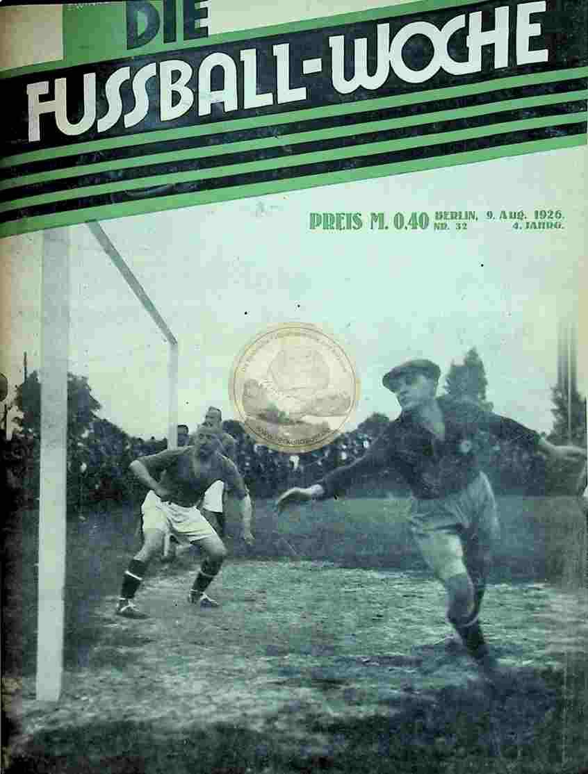 1926 August 9. Fussball-Woche Nr. 32