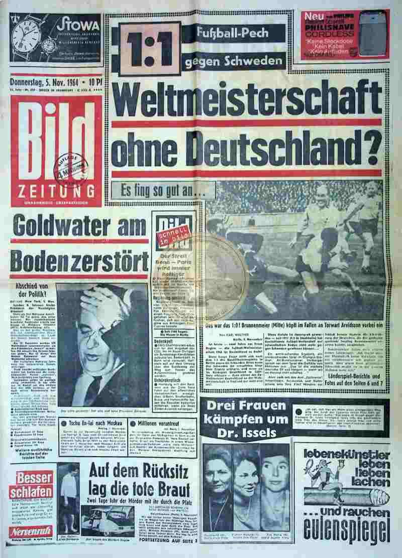 1964 November 5.. Bildzeitung