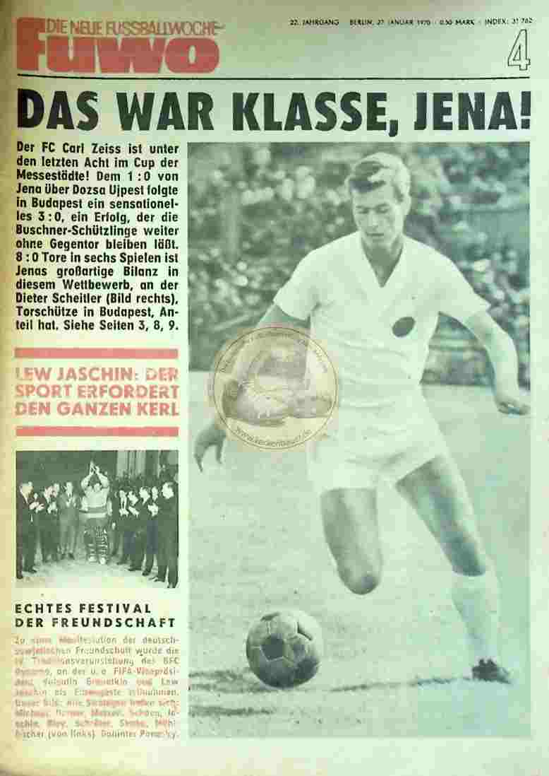 1970 Januar 27. Die neue Fussballwoche fuwo Nr. 4
