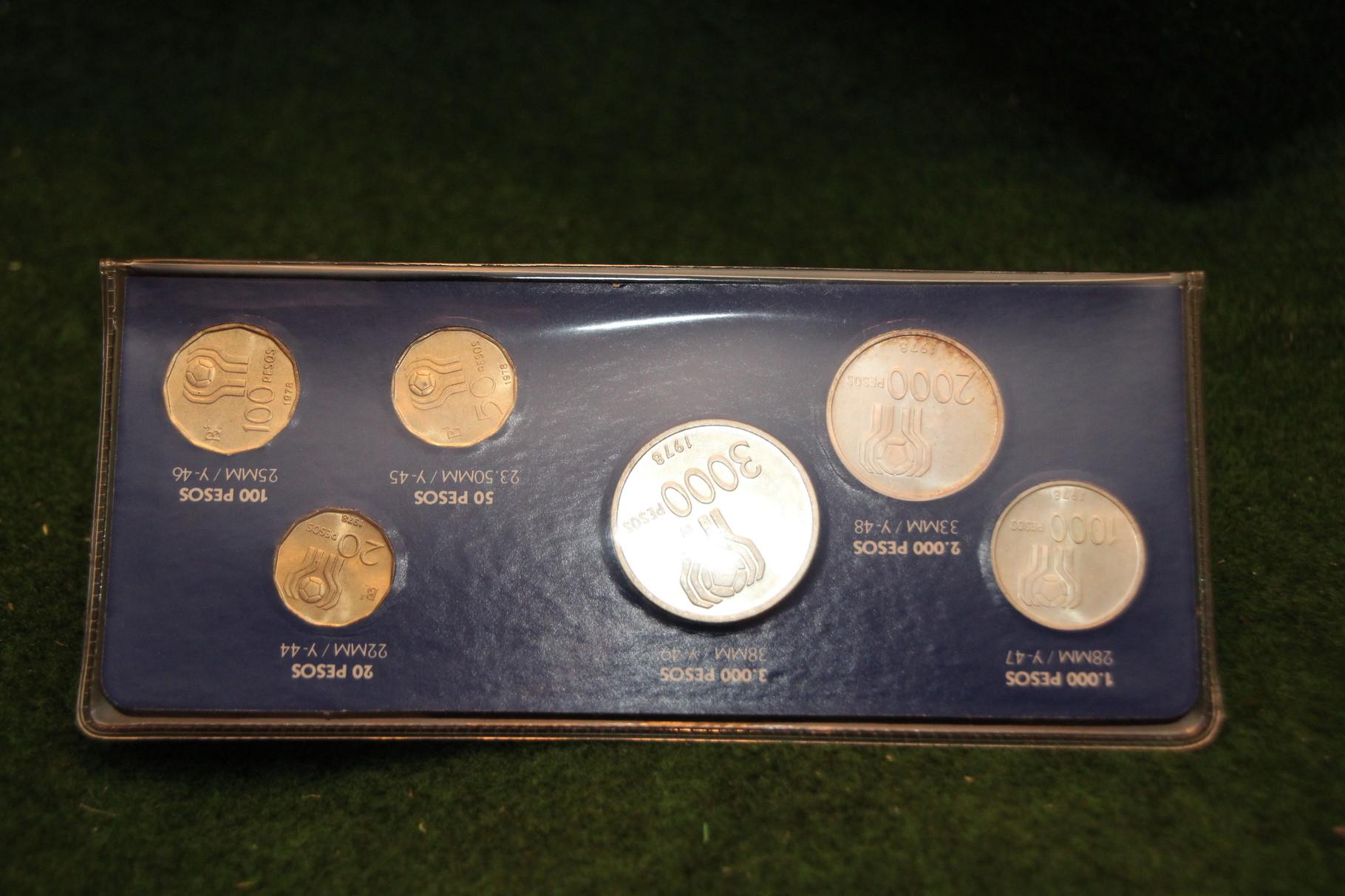 Münzset Pesos der WM 1978 in Argentinien.2/2