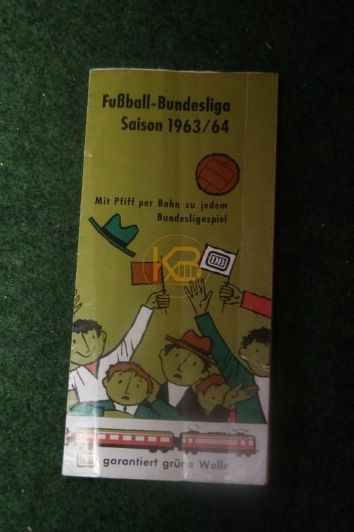 Fußball Bundesliga Saison 1963/64 Mit Pfiff per Bahn zu jedem Bundesligaspiel