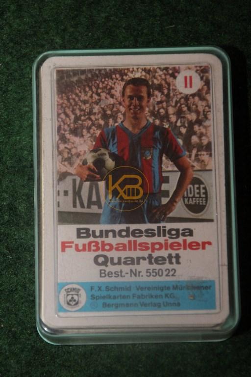 Bundesliga Fussballspieler Quartett 55022 von Schmid ca. aus den 1970ern.
