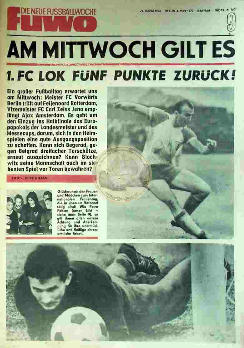 1970 März 3. Die neue Fussballwoche fuwo Nr. 9