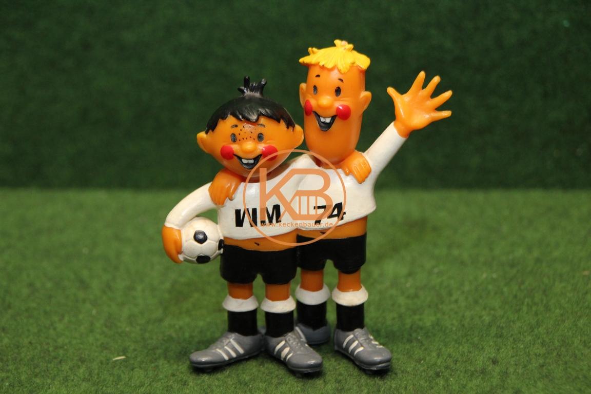 Maskottchen Figur Tip & Tap 1974 Fussball Weltmeisterschaft Deutschland aus dem Nachlass des ehemailige DFB Präsidenten Herman Neuberger.