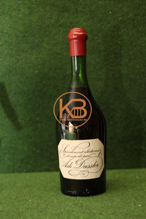 ROTWEIN 1950/60  importiert von Adolf (Adi) Dassler, Gründer von Adidas)  ungeöffnete Flasche. 1/2