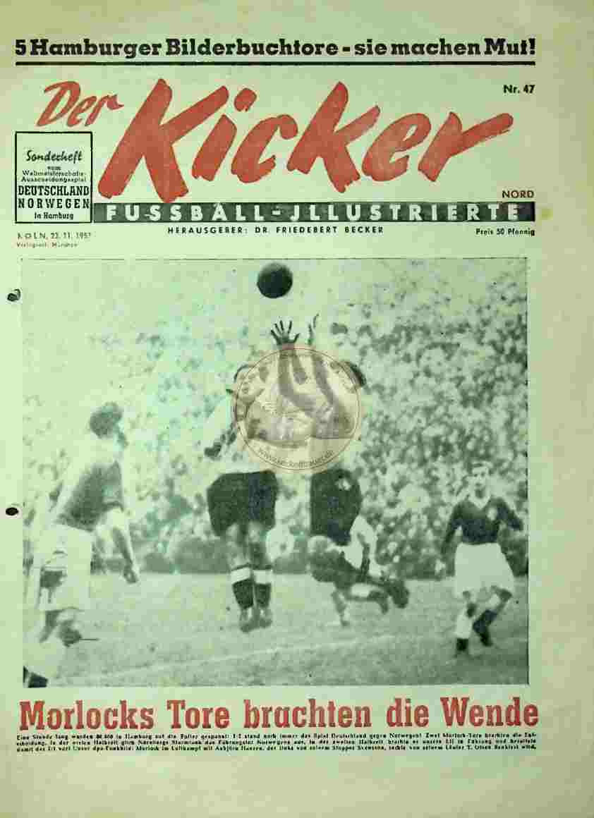 1953 November 23. Kicker Auszug