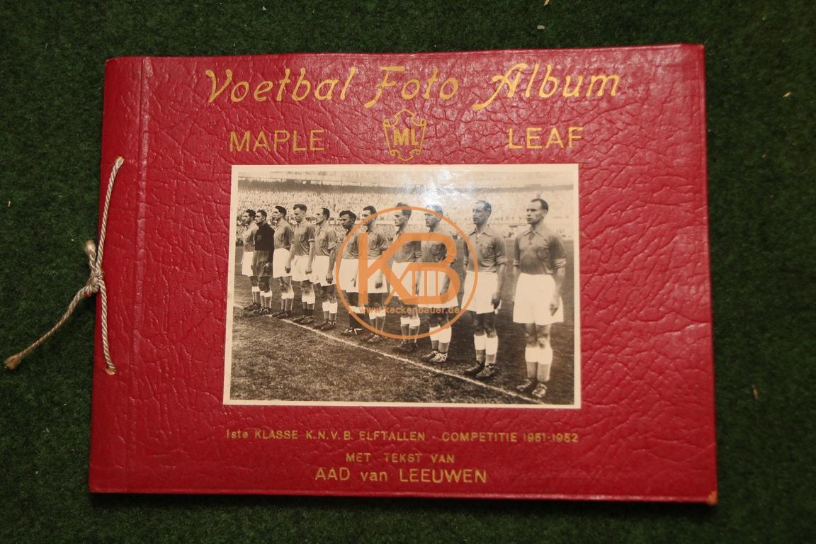 Maple Leaf Voetbal Foto Album komplett aus den Jahren 1951 - 1952.