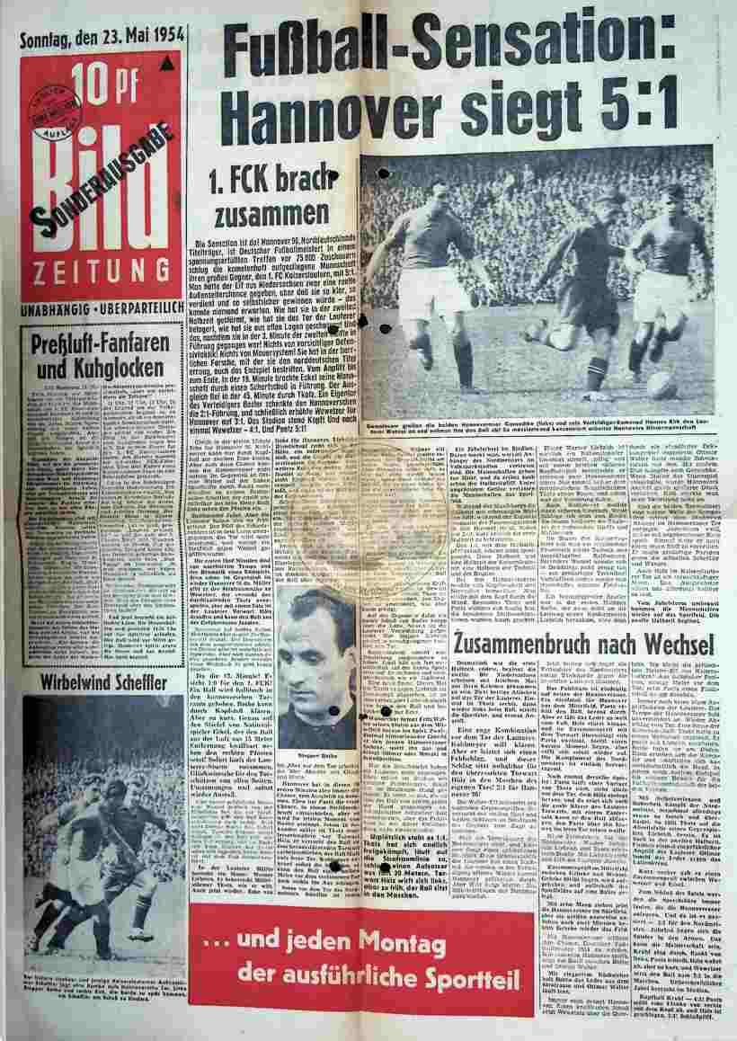 1954 Mai 23. Bild Zeitung Sonderausgabe