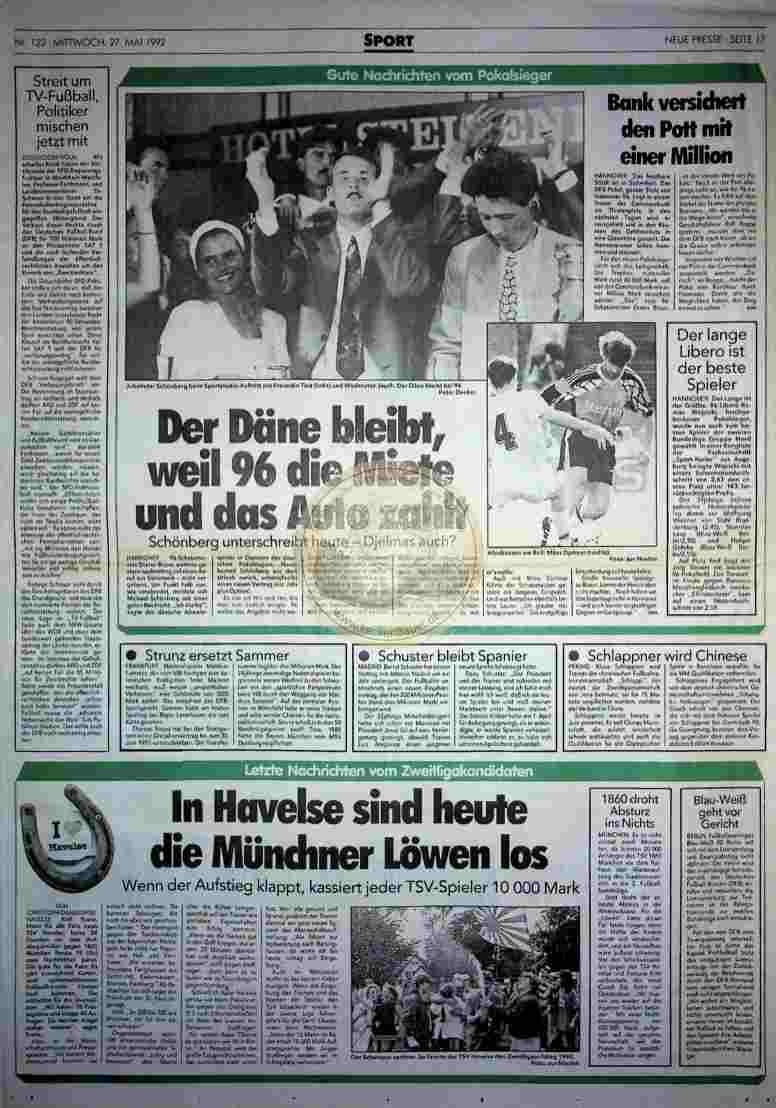 1992 Mai 27. Neue Presse (Auszug)
