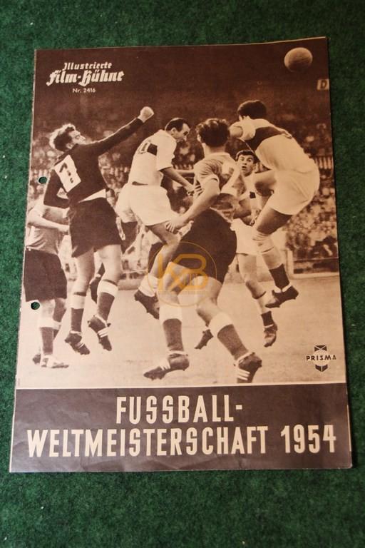 Illustrierte Film-Bühne zur Fußball-Weltmeisterschaft 1954 von Prisma.