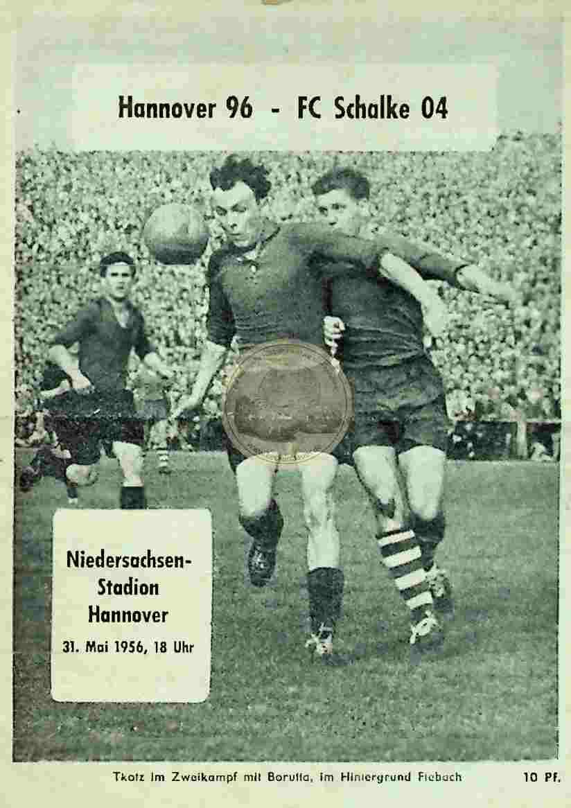 1956 Mai 31. Programheft Hannover vs Schalke