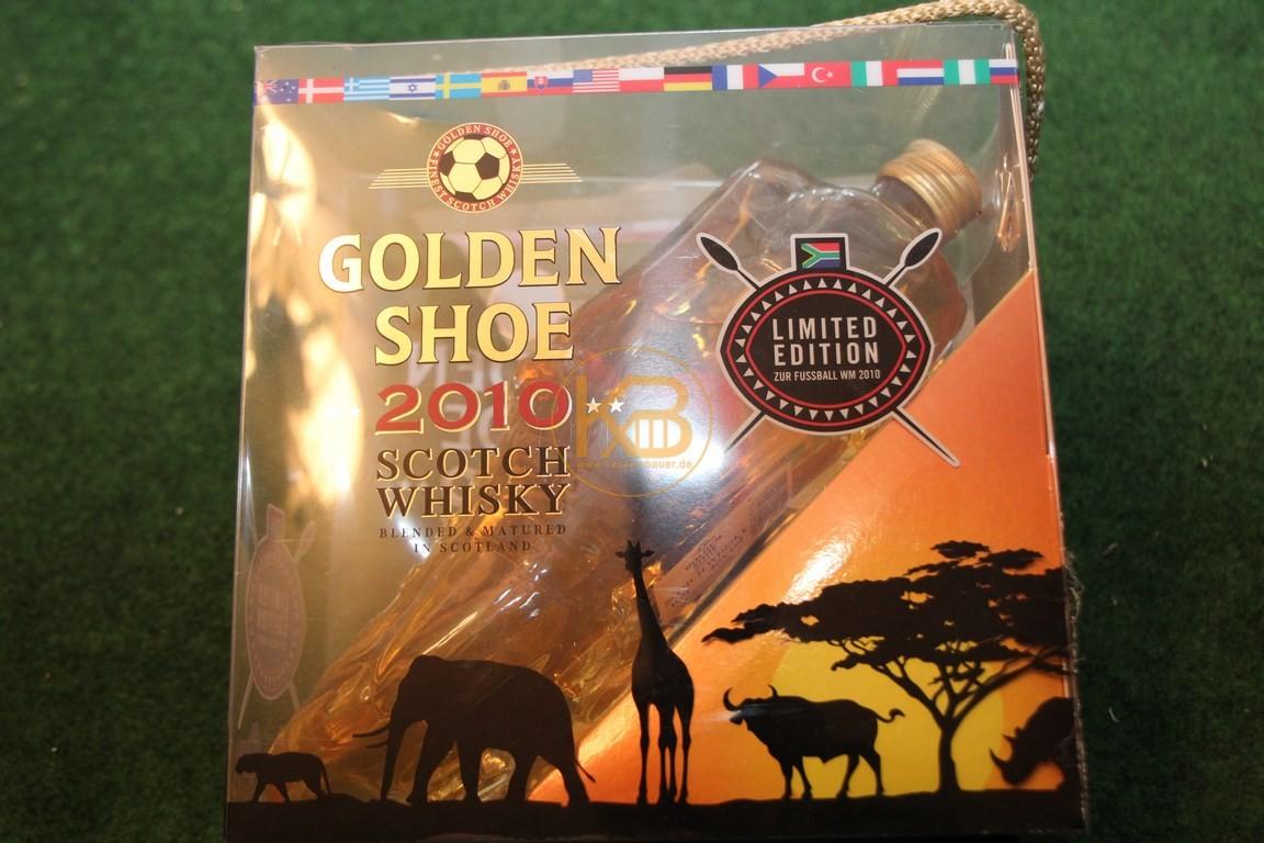 Golden Shoe zur WM 2010 gefüllt mit Scotch Whisky