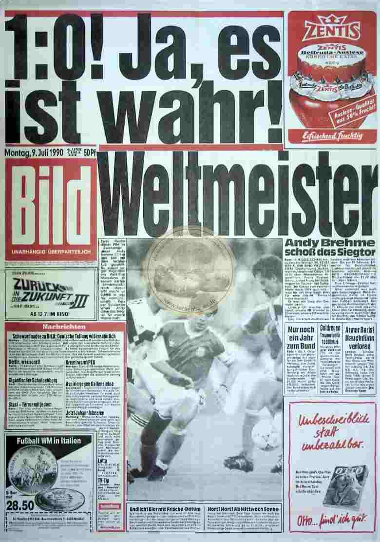 1990 Juli 9. Bildzeitung sw