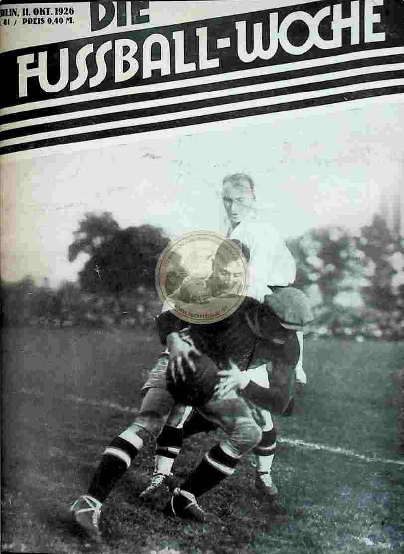 1926 Oktober 11. Fussball-Woche Nr. 41