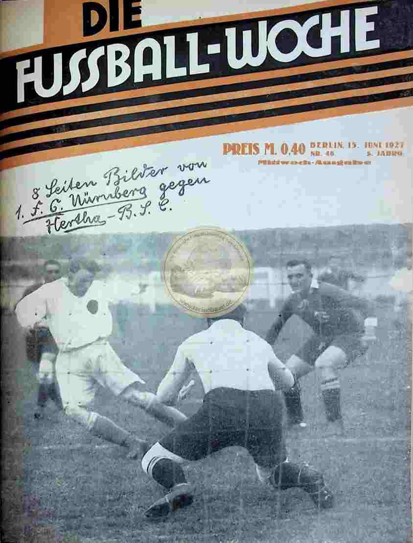 1927 Juni 15. Fussball-Woche Nr. 48