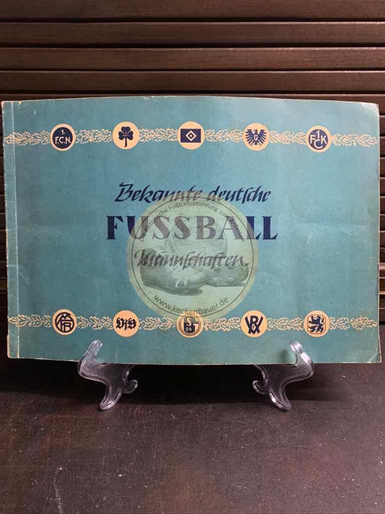 Sammelalbum Bekannte deutsche Fußball Mannschaften aus dem Jona Verlag im Jahr 1953