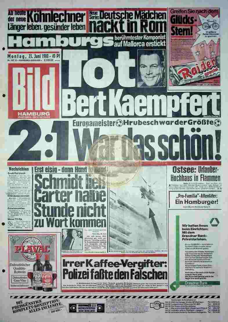 1980 Juni 23. Bildzeitung