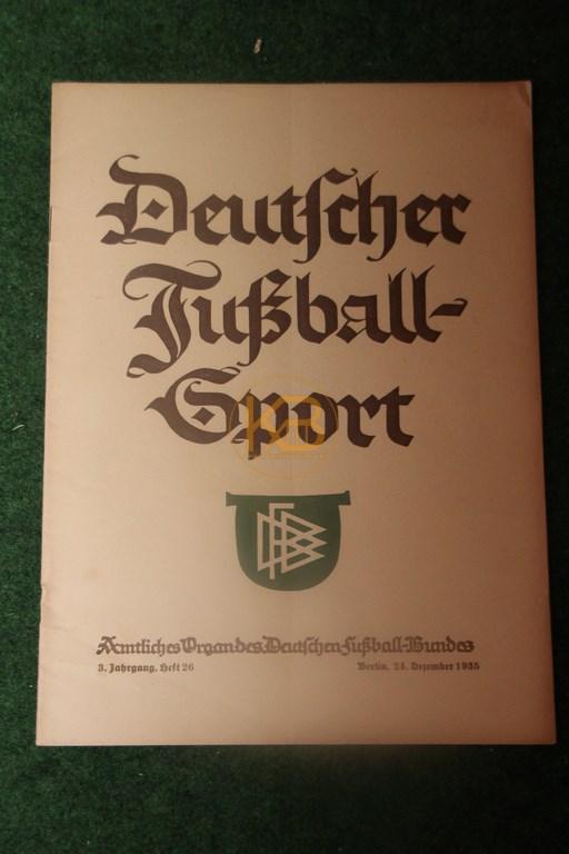 Deutscher Fußballsport Heft 26 vom 24.12.1935