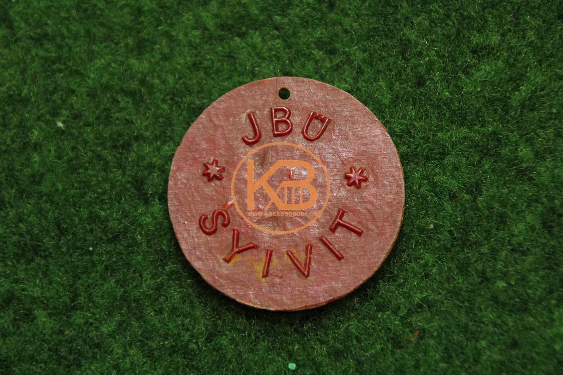 Alte Medaille vom Spiel Deutschland gegen die Schweiz am 22.11.1950 von VB Toto Stuttgart auf der Rückseite JBÜ SYIVIT 2/2