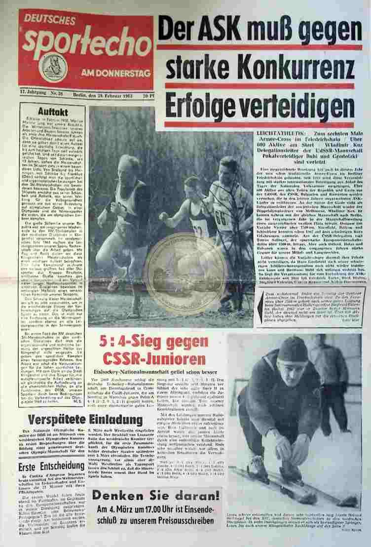 1963 Februar 28. Sportecho Nr. 38