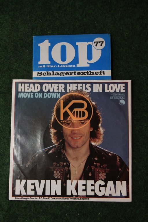 Fußball-Single Kevin Keegan + Schlagertextheft inklusive Autogrammkarte