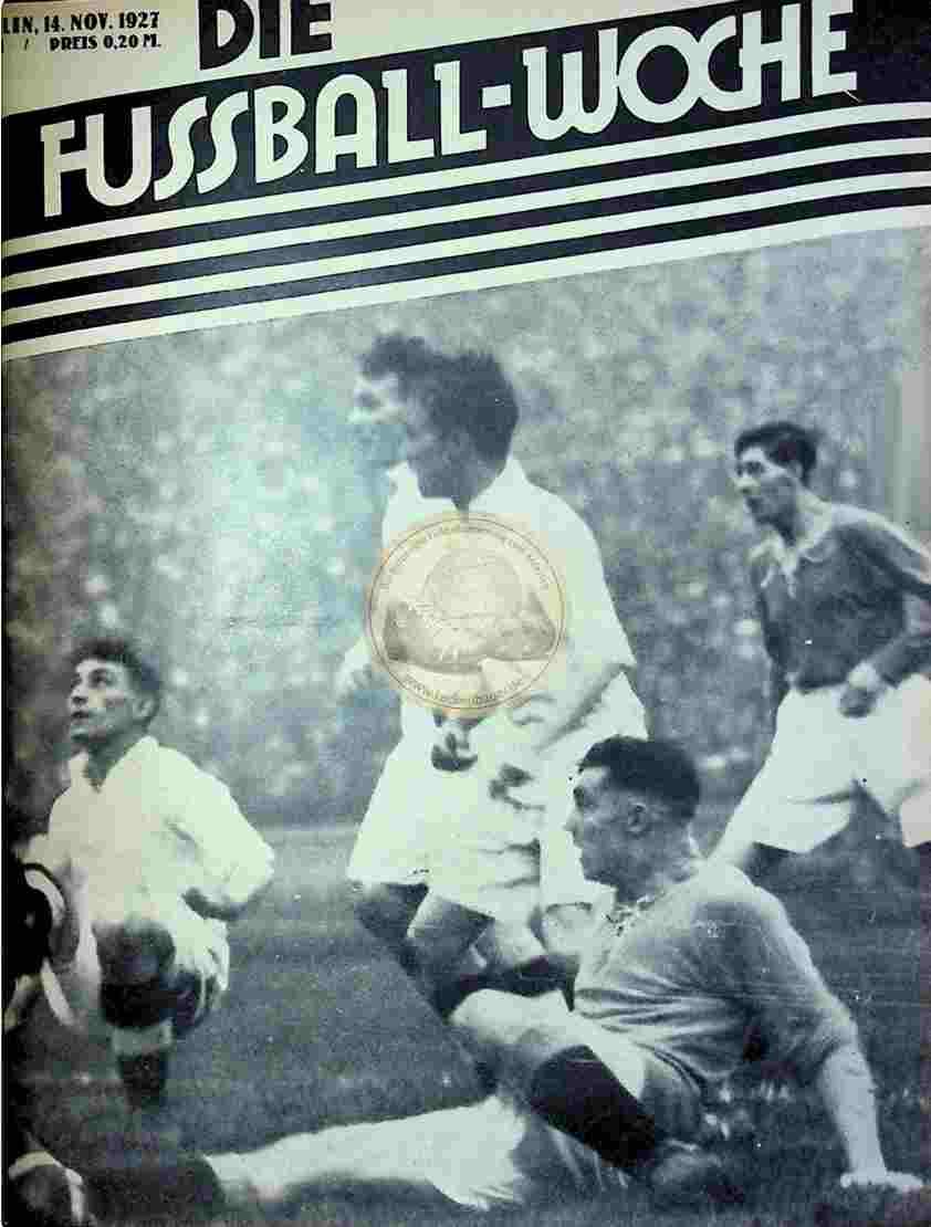 1927 November 14. Fussball-Woche Nr. 91