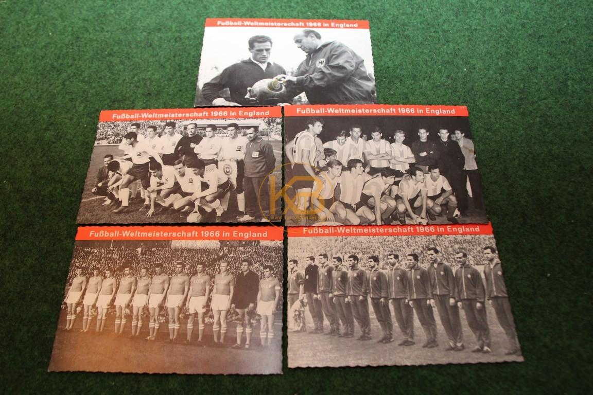 Konvolut Postkarten der WM 1966 in England.