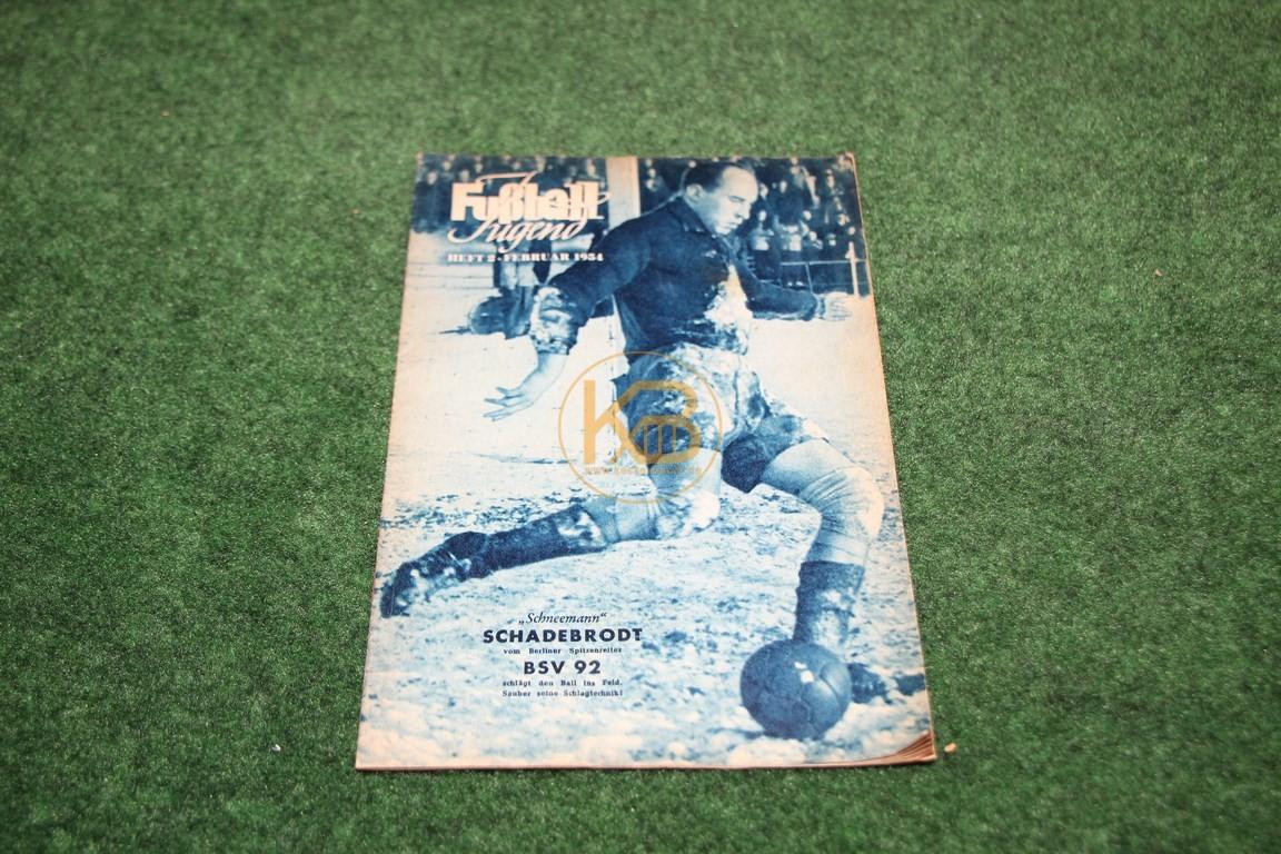 Fußball Jugend Februar 1954.