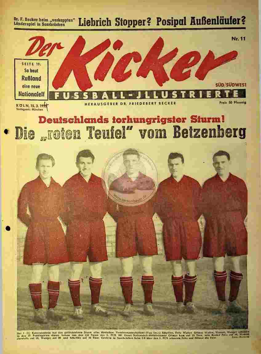 1954 März 15. Kicker Nr.11