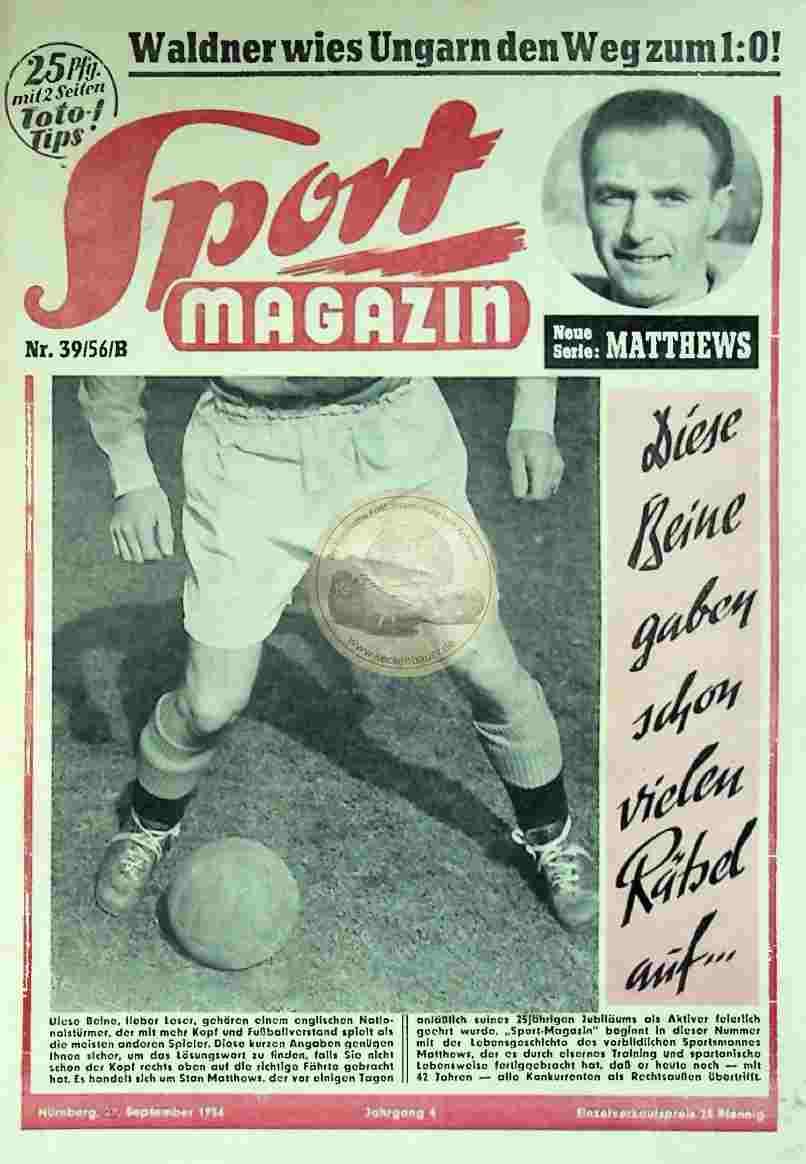 1956 September 27. Sport Magazin Nr. 39