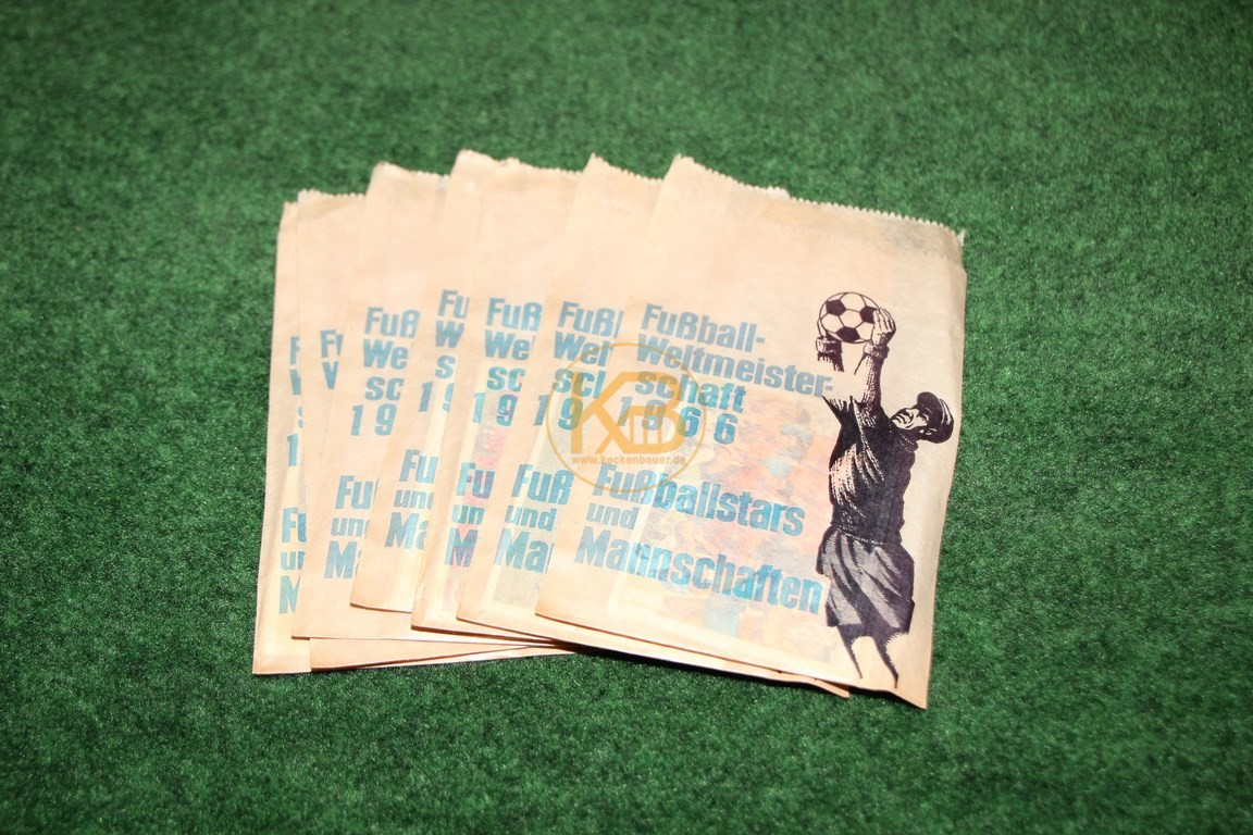 Original Sammeltüten Fussball Weltmeisterschaft 1966 Fußballstars und Mannschaften