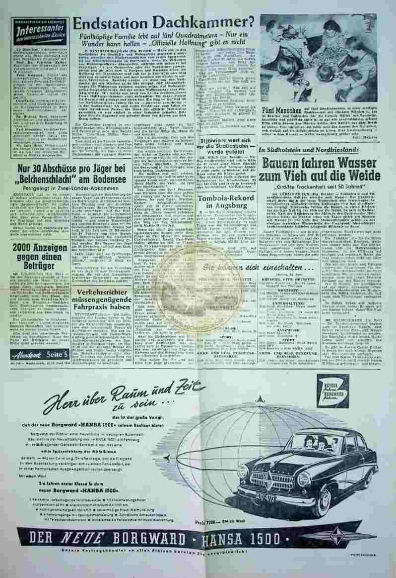 1954 Mai 12./13.Abendpost Seite 5 + 6