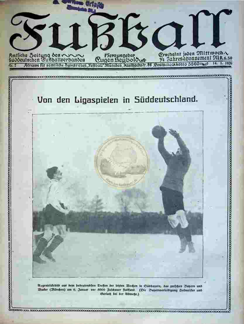 1920 Januar 14. Fußball Nr.2