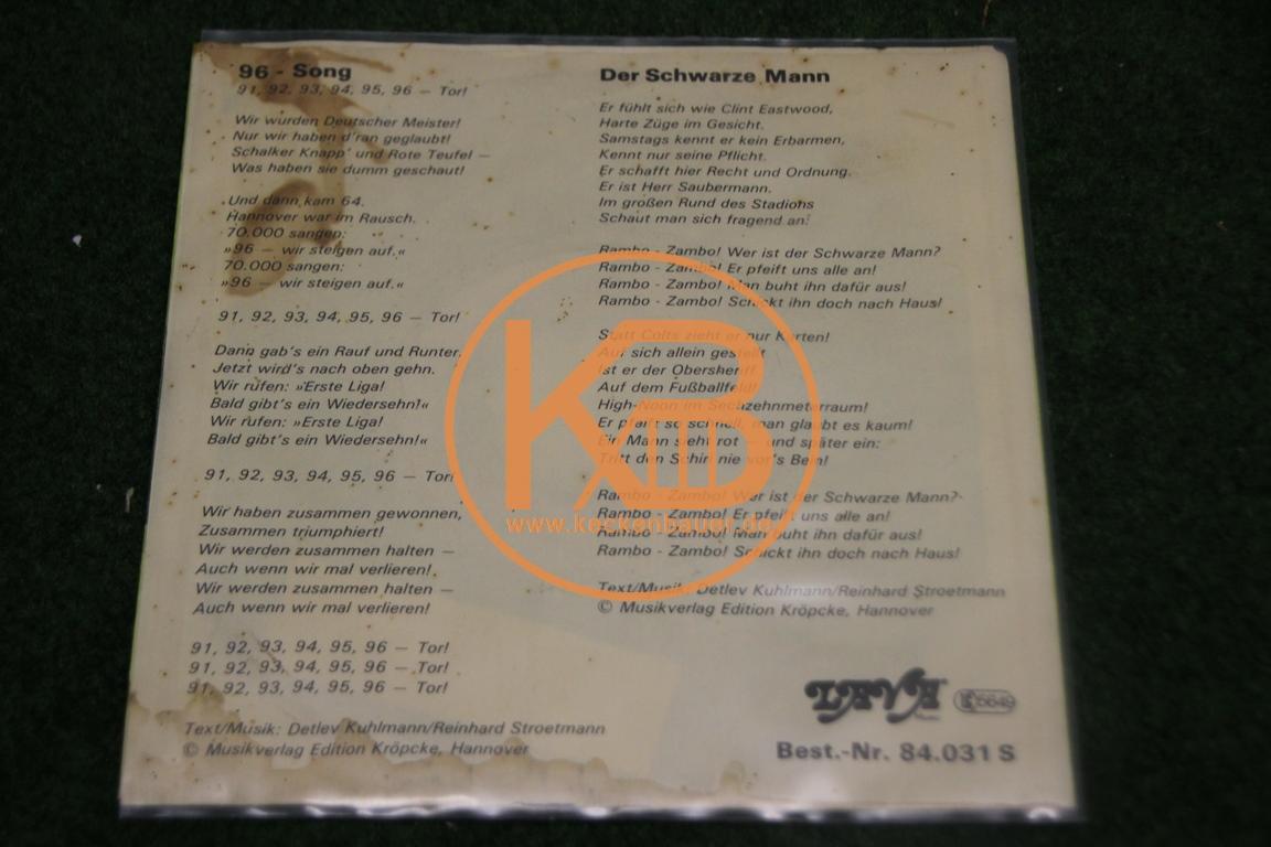 """Platte von Hannover 96 mit dem 96 Song und """"Der Schwarze Mann"""" 2/2"""