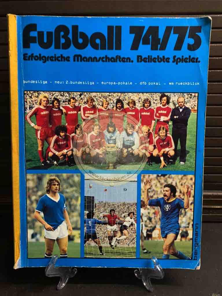 Sammelalbum Bergmann Fußball 1974/75