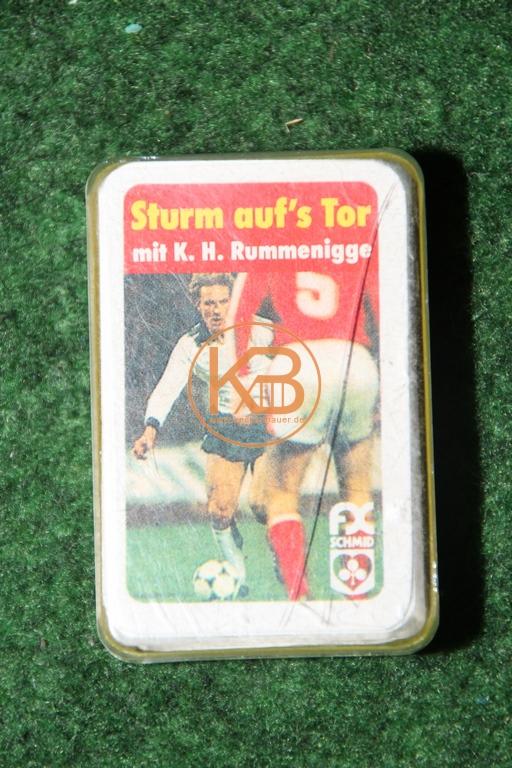 FX Schmid Sturm auf´s Tor mit Karl-Heinz Rummenigge mit original Autogramm.