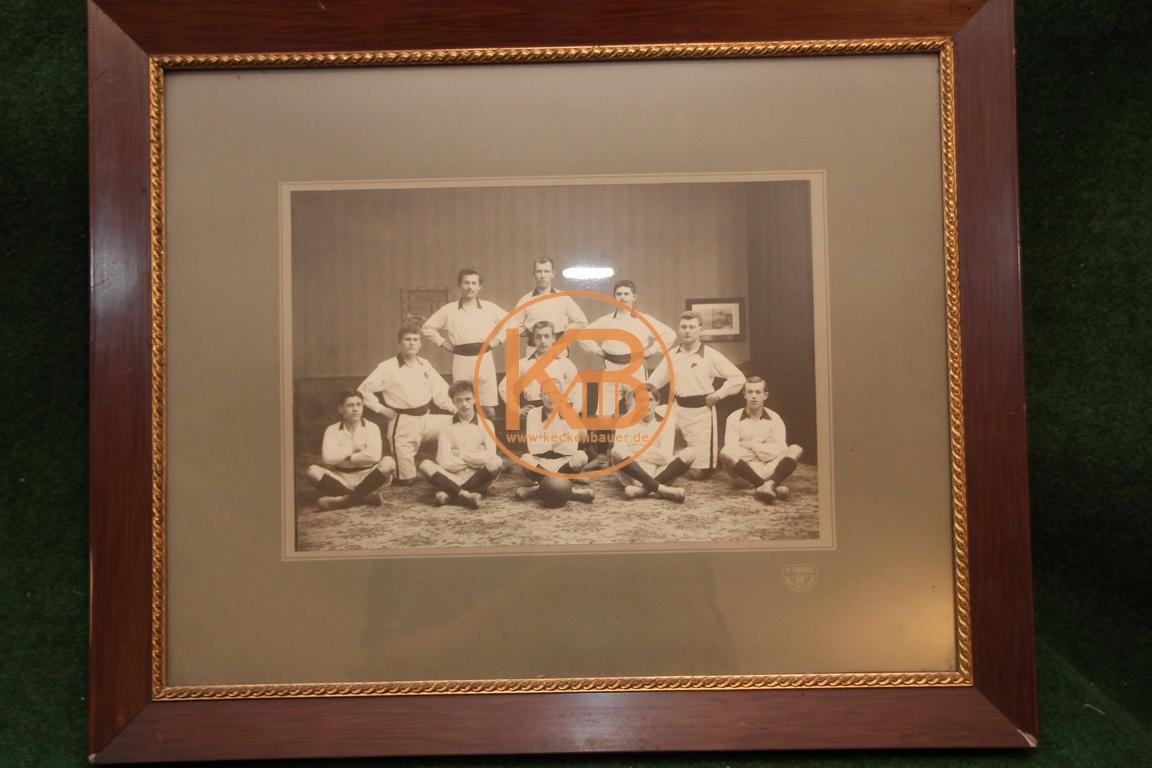 Antike Fotografie um 1900 Fußball Mannschaft 11 Cannstatt Jungs, VFB Stuttgart?