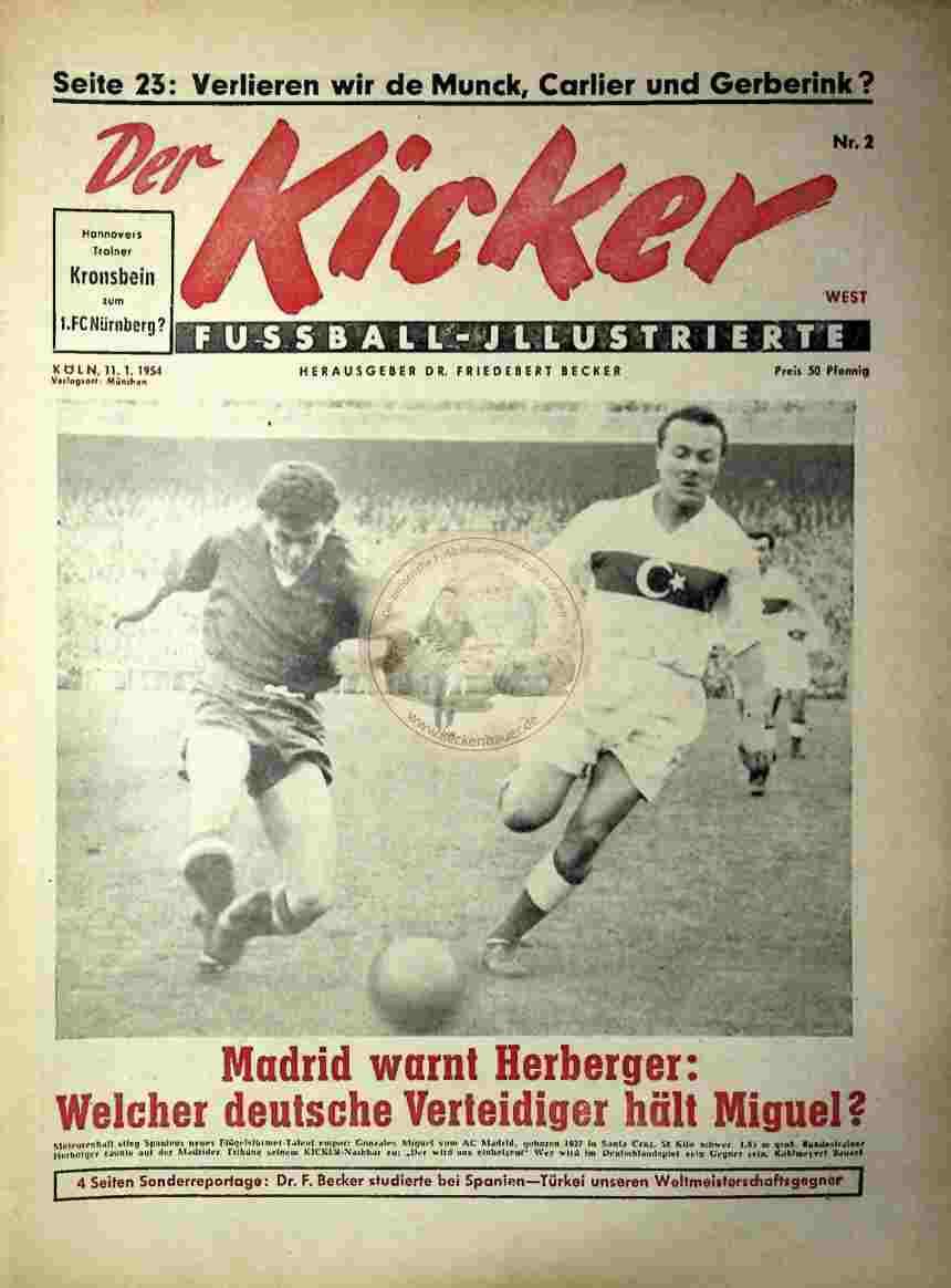1954 Januar 11. Kicker Nr.2