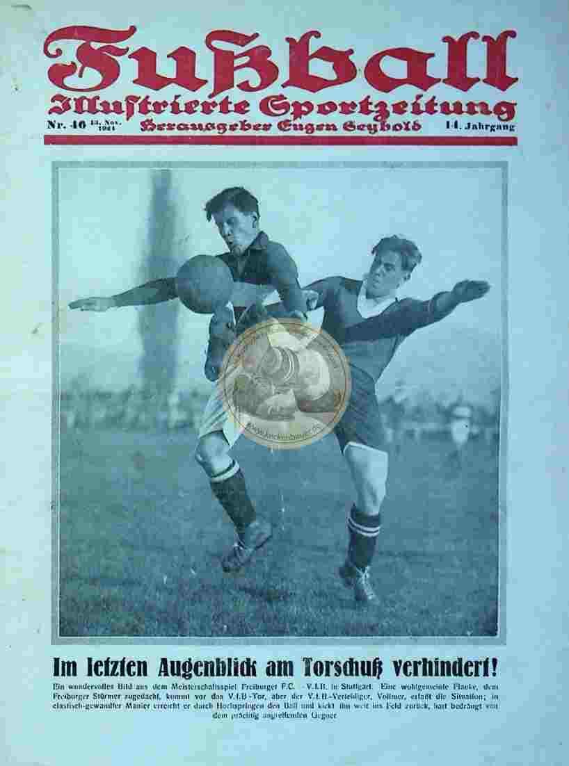 1924 November 13. Fußball Nr. 46