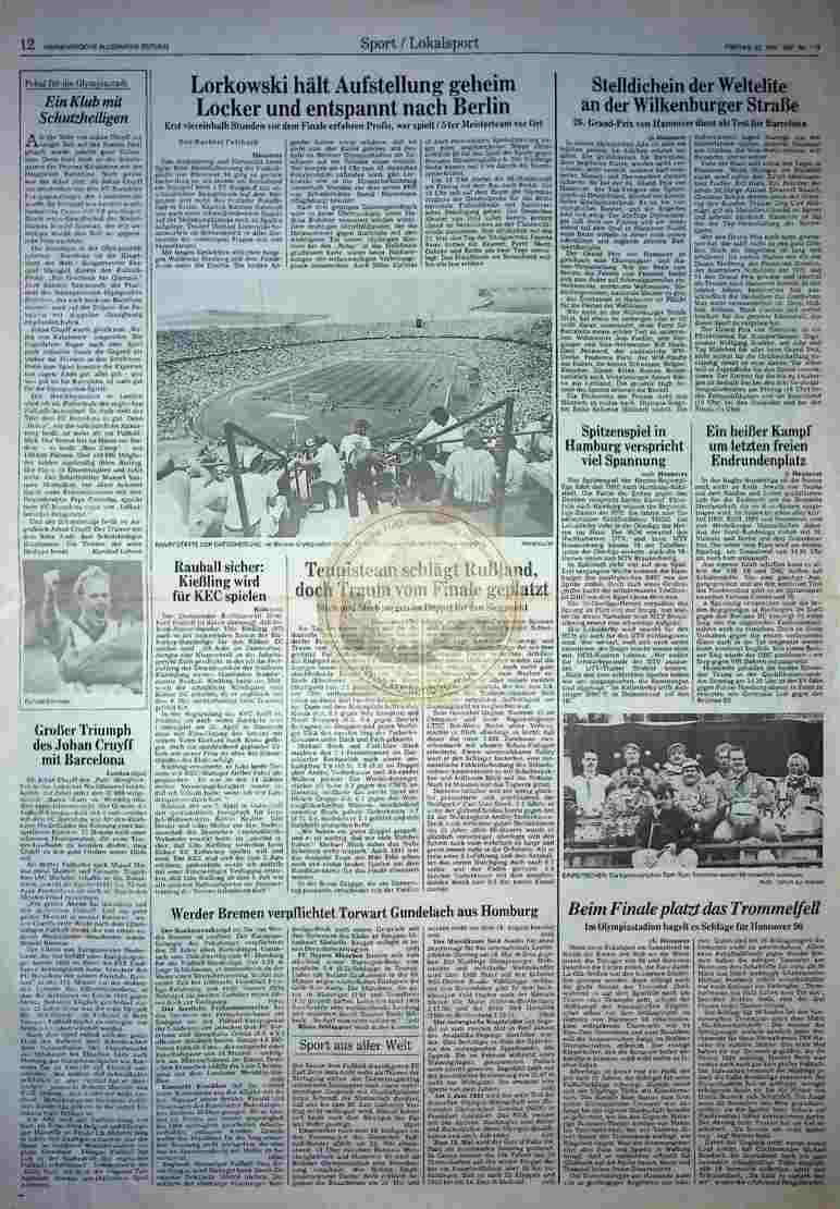 1992 Mai 22. HAZ (Auszug )