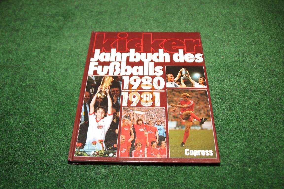 Kicker Jahrbuch des Fußballs 1980/1981 vom Copress Verlag.