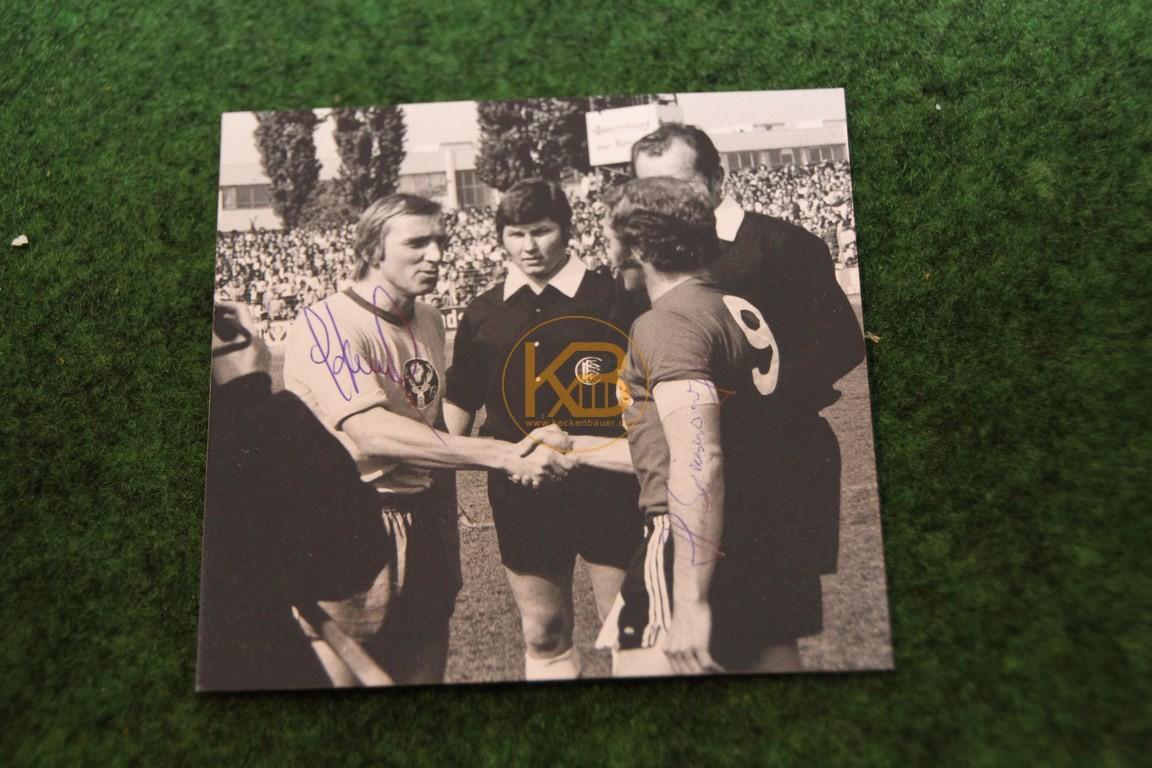 Foto aus dem Spiel gegen Peine Ost mit original Autogrammen.