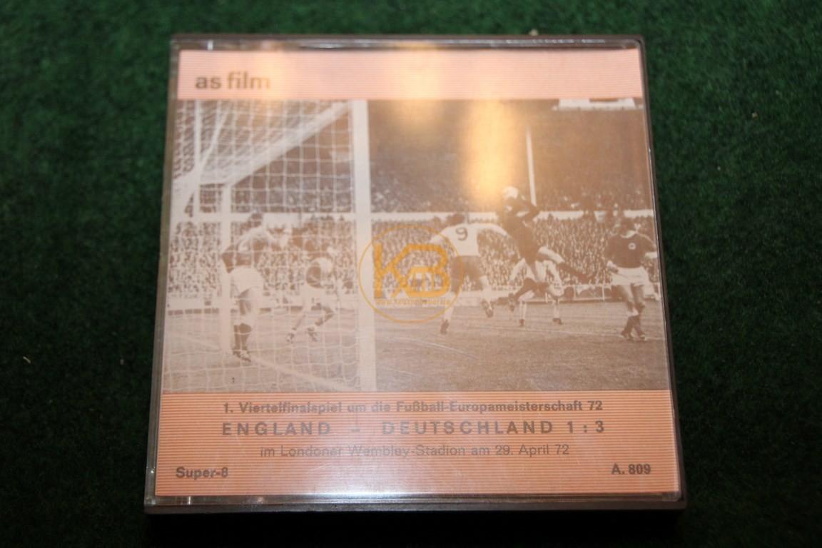 Das EM Viertelfinale England gegen Deutschland bei der EM 1972 in England auf Super 8.