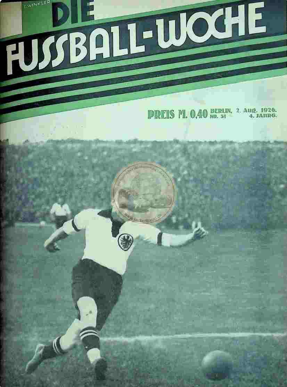 1926 August 2. Fussball-Woche Nr. 31