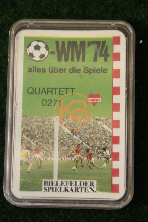 Bielefelder Spielkarten Quartett 0271 WM 74 - alles über die Spiele